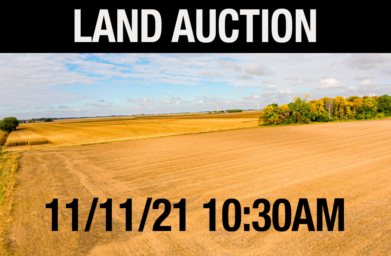 Live Land Auction in Mitchell County, Iowa